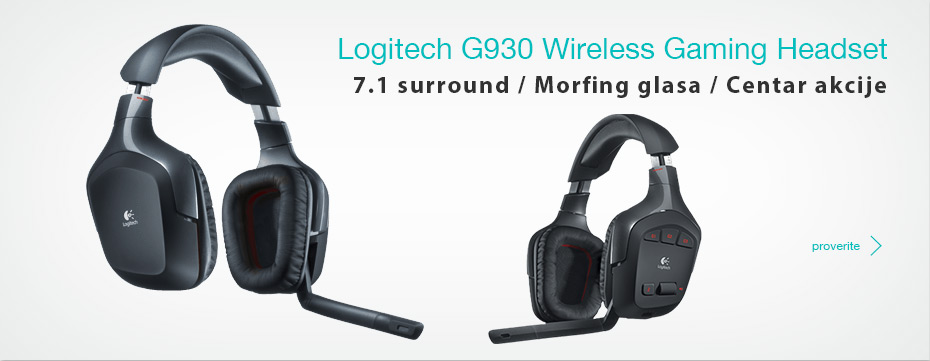 Logitech G930 Wireless Gaming Slušalice